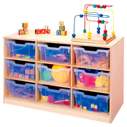 Nine-Tray Storage With Trays