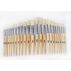 Preschool Brush Assortment with Rounded and Flat tipped Brushes