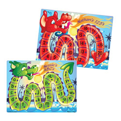Dragon Numbers and Alphabet Peg Puzzles