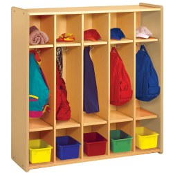 Nature Color Preschool Coat Locker - Natural