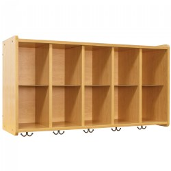 Nature Color 10 Cubbie Wall Locker - Natural