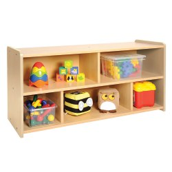 Nature Color Toddler Storage Shelf Unit - Natural