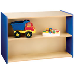 Nature Color Preschool Double-Sided Storage Unit - Blue
