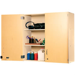 "Nature Color 36"" Locking Wall Storage - Natural"