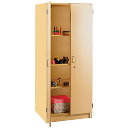 "Nature Color 72"" Teacher Storage Cabinet - Natural"
