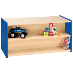 Nature Color Toddler Double-Sided Storage Unit - Blue