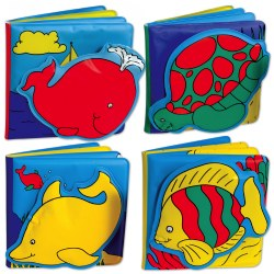 Ocean Animals Vinyl Books - Set of 4