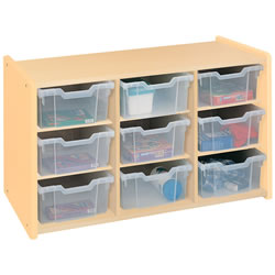 Toddler Bin Storage Unit - Natural