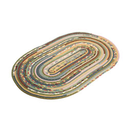 Thimbleberries Oval Braided Rug 5'x7'