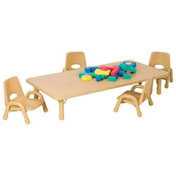 "Toddler Rectangle Tables 30"" x 60"" (Seats 8)"