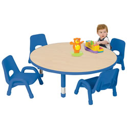 "Nature Color Toddler Round Table 42"" (Seats 4), 6-36 months"