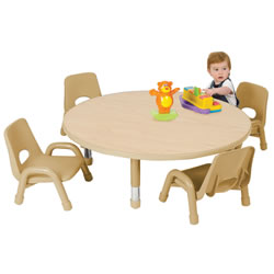 "Nature Color Toddler Round Tables 32"" (Seats 4)"