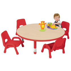 "Nature Color Toddler Round Table 42"" (Seats 4)"