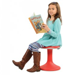 3 years - adult. The K-Motion Stool offers a unique and functional option for children and adults who need movement to focus. The stool's convex base allows for discreet motion in all directions and provides a physical outlet for anyone who struggles to sit still. The sturdy, padded base also prevents slipping. Offering K-Motion Stools as an alternative seating option can help channel children's physical energy while reducing attention concerns in the classroom. One of the best features of the K-Motion Stools is the lightweight, durable body that allows for easy transport around the classroom. Several seating heights and colors to choose from! 250 lb. weight limit on all stools.
