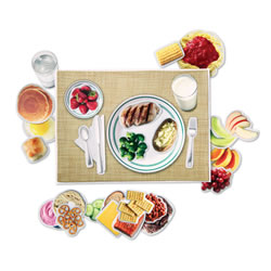 Magnetic Healthy Food Set