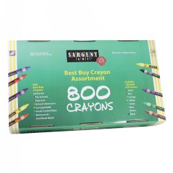 Sargent Art Best Buy Standard Crayons (800 Per Box)