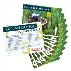 Kaplan Dough Counting Mats - Set of 9