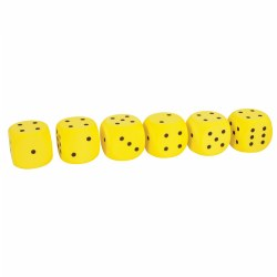 "3 years & up. Each set includes six 2"" x 2"" foam dice. Three sets are available to choose from: Spot Dice have dots 1 through 6; Number Dice have numbers 1 to 6; and Shape Dice have six different basic shapes. Choose set."