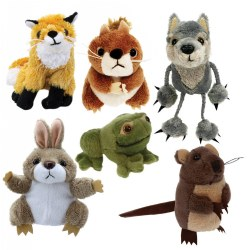Woodland Animals Finger Puppets - Set of 6