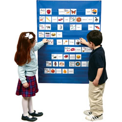 "This wall chart is the perfect size to accommodate all of your classroom needs. Heavy duty construction to allow for many years of use. 34""W x 45""L. Cards sold separately."