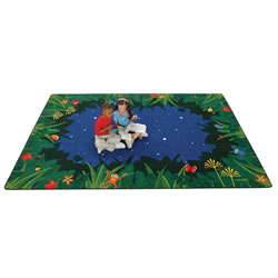 Peaceful Tropical Night Rug