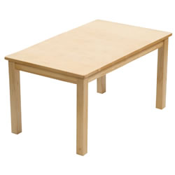 "24"" x 36"" Carolina Birch Rectangle Table (Seats 4)"