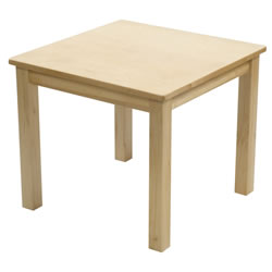 "24"" x 24"" Carolina Birch Square Table (Seats 4)"