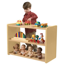 Toddler See Thru Storage Shelf - Natural