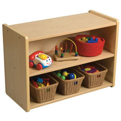 Toddler Solid Back Storage Center - Natural