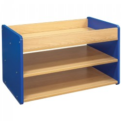Toddler Pull Up 4 Bin Open Storage Center - Blue