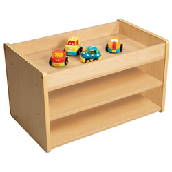 Toddler Pull Up Open Storage Center without Bins - Natural