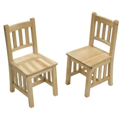 Natural Mission Chairs (Set of 2) - 2-5 yrs