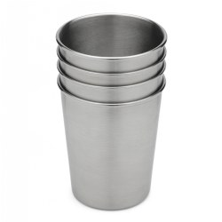 Stainless Steel Toddler Cups - Set of 4