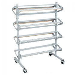 "Mobile 36"" Paper Rack and Cutter"