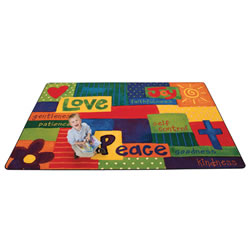 Spiritual Fruit Painted KID$ Value PLUS Rug - 6' x 9'