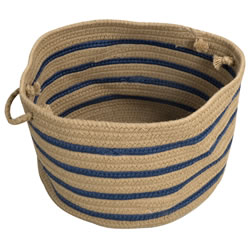 "Wide Textured Stripe Basket 18"" x 12"""