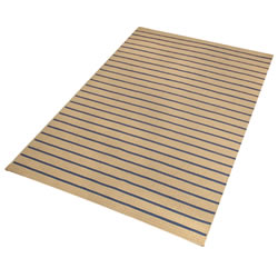 Wide Textured Stripe Carpet with Pad