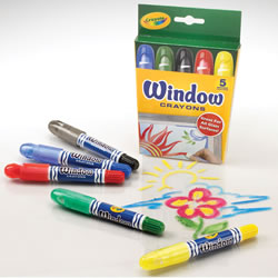 Crayola® Window Crayons (Single Box)