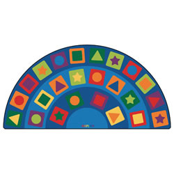 Image of Seating Shapes Carpet 6' x 12' Semi-Circle (Factory Second)