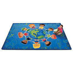 "Give the Planet a Hug Rug 5'5"" x 7'8"""
