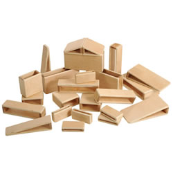 Mini Hollow Blocks in Different Shapes and Sizes - 24 Piece Set