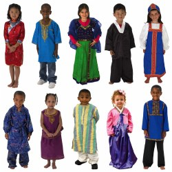 Cultural Clothing Outfits (Set of 10)