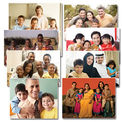 Families of the World Posters - Set of 8