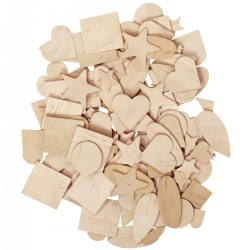 Wooden Craft Pieces - 350 Pieces