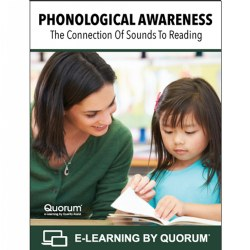 Phonological awareness is a set of skills that develop a child's ability to hear and manipulate the sounds in language. Research has demonstrated that phonological awareness is a critical factor for reading success. For teachers to effectively support the development of Phonological Awareness, they need to be able to identify phonological awareness skills and tasks in the proper sequence of development. In this course, participants will learn and practice phonological awareness tasks and activities to engage children in learning activities that are targeted and fun. This is a 4-hour course worth 0.4 CEUs. This course can be utilized to meet the training requirements to earn or renew your Child Development Associate® (CDA) credential. Course content is aligned with the CDA® Subject Area 2: Advancing children's physical and intellectual development.