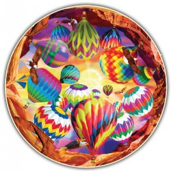 Round Table Puzzle - Balloon Chaos (500 Pieces)