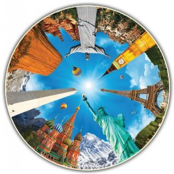 Round Table Puzzle - Landmarks (500 Pieces)