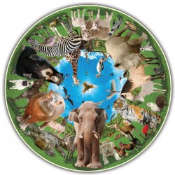 Round Table Puzzle - Animal Arena (500 Pieces)