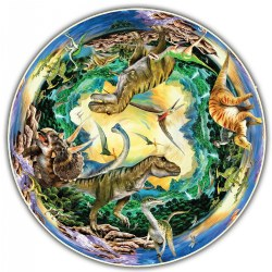 Round Table Puzzle - Prehistoric World (500 Pieces)