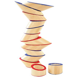 Totter Tower Bamboo Blocks Angled Stacking Set